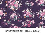 seamless wallpaper pattern with ... | Shutterstock .eps vector #86881219