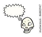 cartoon spooky graffiti style... | Shutterstock .eps vector #86882947