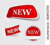 vector illustration of red new... | Shutterstock .eps vector #86892550