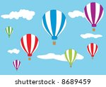 hot air balloons in the sky | Shutterstock . vector #8689459