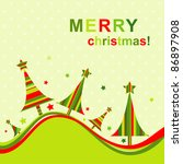 template christmas greeting... | Shutterstock .eps vector #86897908