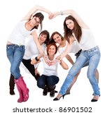 group of five beautiful and... | Shutterstock . vector #86901502