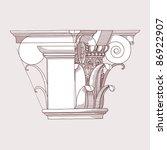 chapiter  hand draw sketch... | Shutterstock . vector #86922907