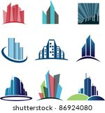 collection of abstract... | Shutterstock .eps vector #86924080