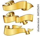 gold ribbon collection | Shutterstock .eps vector #86925694