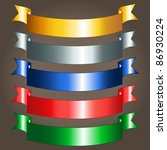 option of colorful shiny... | Shutterstock . vector #86930224