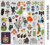 big set of different cute... | Shutterstock .eps vector #86938468