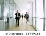 business people walking in the... | Shutterstock . vector #86949166