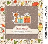 birthday announcement card | Shutterstock .eps vector #86959927