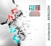 3d shiny explosion background   Shutterstock .eps vector #86961034
