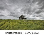 Abandoned Farm With Storm...