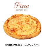 Pizza With Cheese Isolated On...