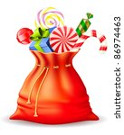 santa's sack with gifts | Shutterstock .eps vector #86974463