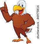 cute cartoon eagle. vector...