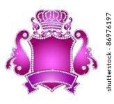 diamond crest | Shutterstock . vector #86976197