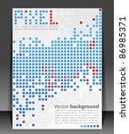 abstract blank. pixel art.... | Shutterstock .eps vector #86985371