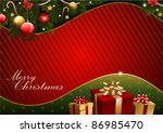 christmas card design with... | Shutterstock .eps vector #86985470