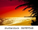 Red Sunset In Mui Ne