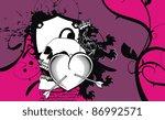 heraldic heart arrows crest... | Shutterstock .eps vector #86992571