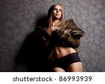 portrait of wonderful woman in... | Shutterstock . vector #86993939