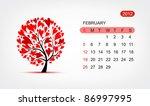 vector calendar 2012  february. ... | Shutterstock .eps vector #86997995
