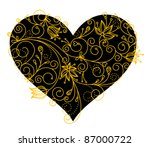 abstract floral heart... | Shutterstock .eps vector #87000722