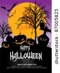 october 31 halloween is a... | Shutterstock .eps vector #87005825