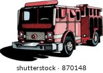 fire fighting vehicle. check my ...   Shutterstock .eps vector #870148