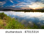 Sunset Over The Runde River In...