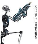 skeleton robot holding a laser... | Shutterstock . vector #87018614