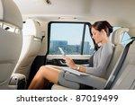 attractive executive female... | Shutterstock . vector #87019499
