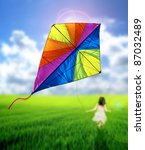 Kite flying - stock photo
