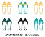 Retro Shoes Collection Isolate...