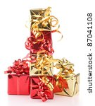 Isolated Pile Of Present On...