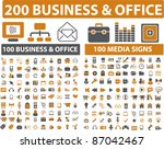 200 business   office icons ...
