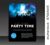 party time   flyer or cover... | Shutterstock .eps vector #87065645
