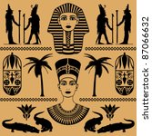 elements of the egyptian... | Shutterstock .eps vector #87066632