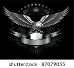fury spread winged eagle... | Shutterstock . vector #87079055
