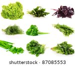 Collage Of Culinary Greens....
