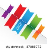 vector set ribbons tag eps10 | Shutterstock .eps vector #87085772