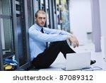 young engeneer business man... | Shutterstock . vector #87089312