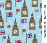 Seamless Pattern With Big Ben...