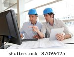 architects working on... | Shutterstock . vector #87096425