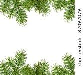 christmas framework  isolated... | Shutterstock . vector #87097079