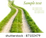 Road With Grass On White...