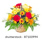 Flower Arrangement With Fall...