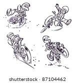 cartoon mountain bikers | Shutterstock .eps vector #87104462
