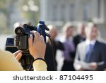 covering an event with a video... | Shutterstock . vector #87104495