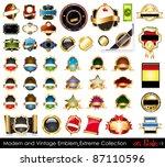 modern and vintage emblems...   Shutterstock . vector #87110596
