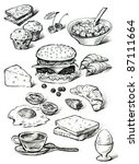 foods for breakfast | Shutterstock . vector #87111664